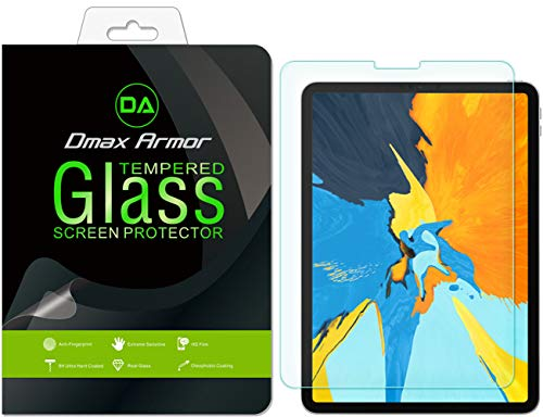 Dmax Armor for Apple iPad Pro 11 inch Tempered Glass Screen Protector, [Tempered Glass] 0.3mm 9H Hardness, Anti-Scratch, Anti-Fingerprint, Bubble Free, Ultra-Clear