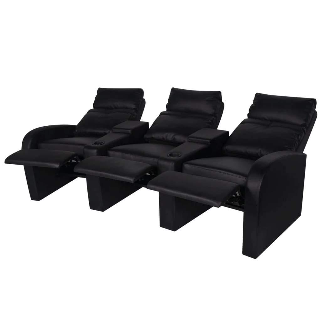 binzhoueushopping Sillón reclinable de 3 plazas de Cuero ...