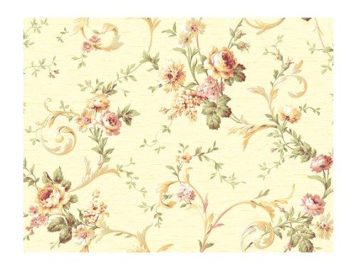 York Wallcoverings CG5641 Wallpaper Orange and Yellow Series
