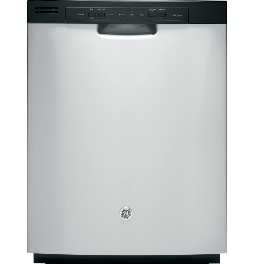 GE GDF510PSJSS Built-In 24-Inch Dishwasher With Front Controls, Stainless Steel, 4 Cycles / 3 Options
