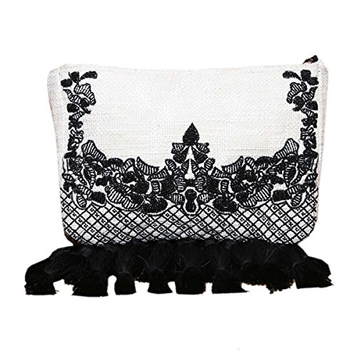 Multicolor Top Handmade Evergreen fringes Diwaah Clutch with Diwaah Sling at Zip Embroidered Machine Purse bottom Bag ZSnvndxw