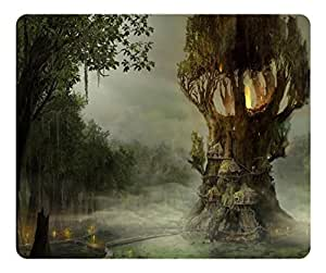 Brain114 Customized Mouse Pad Oblong Fantasy Tree Personalized Mousepad Non-Slip Gaming Mouse Pads