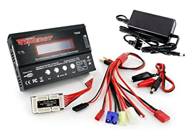 Combo Special: Tenergy TB6-B Balance Charger for NiMH/NiCD/Li-PO/Li-Fe Battery Packs + Power Supply
