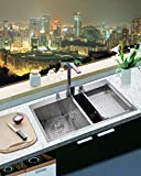 33 X 22 Top-mount Double Bowl 50/50 Kitchen Sink Drop-in 304 Stainless Steel 16 Gauge By SuperSuper Proofing