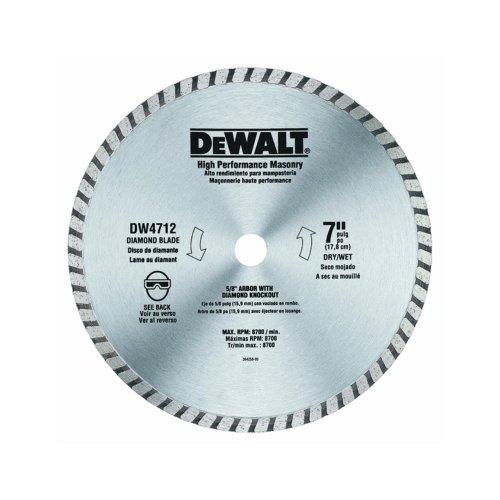 DEWALT DW4712B 7-Inch High Performance Diamond Masonry Blade (Circular Saw Blade Masonry compare prices)
