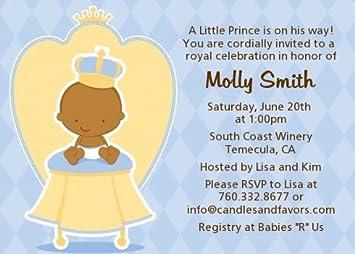 Amazon little prince african american baby shower invitations little prince african american baby shower invitations filmwisefo