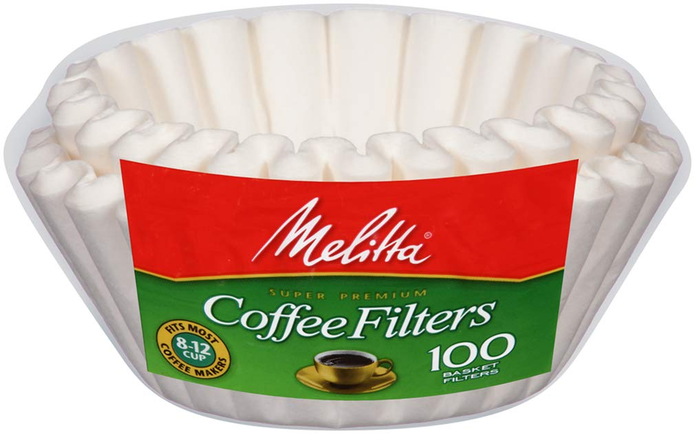 Melitta (629552C) Super Premium 8-12 Cup Basket Coffee Filters, White, 100 Count (Pack of 24)