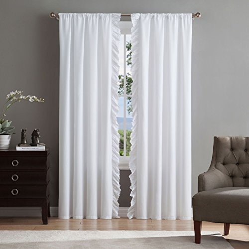 Luxury Microfiber Eyelet Window Treatments - Set of 2 Curtains - Drapes Available in 3 Sizes -
