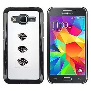 For Samsung Galaxy Core Prime / SM-G360 , S-type® Ruby Emerald Drawing Art - Arte & diseño plástico duro Fundas Cover Cubre Hard Case Cover