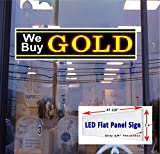 LED flat panel Light box Sign 48''x12'' - WE BUY GOLD Window sign