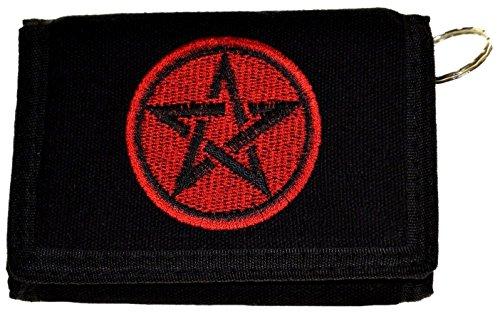 Wallet Pentagram (MM Men's Pentagram Trifold Wallet with Key Chain Pocket Chain Black)