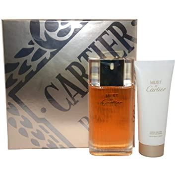 Cartier Must De Cartier Gift Set for Women Eau de Toilette Spray, Body Cream