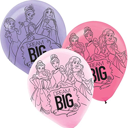 - Printed Latex Balloons   Disney Princess Dream Big Collection   Party Accessory