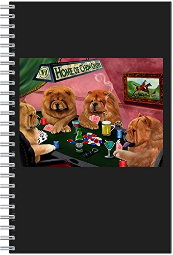 Price comparison product image Home of Chow Chow 4 Dogs Playing Poker Notebook
