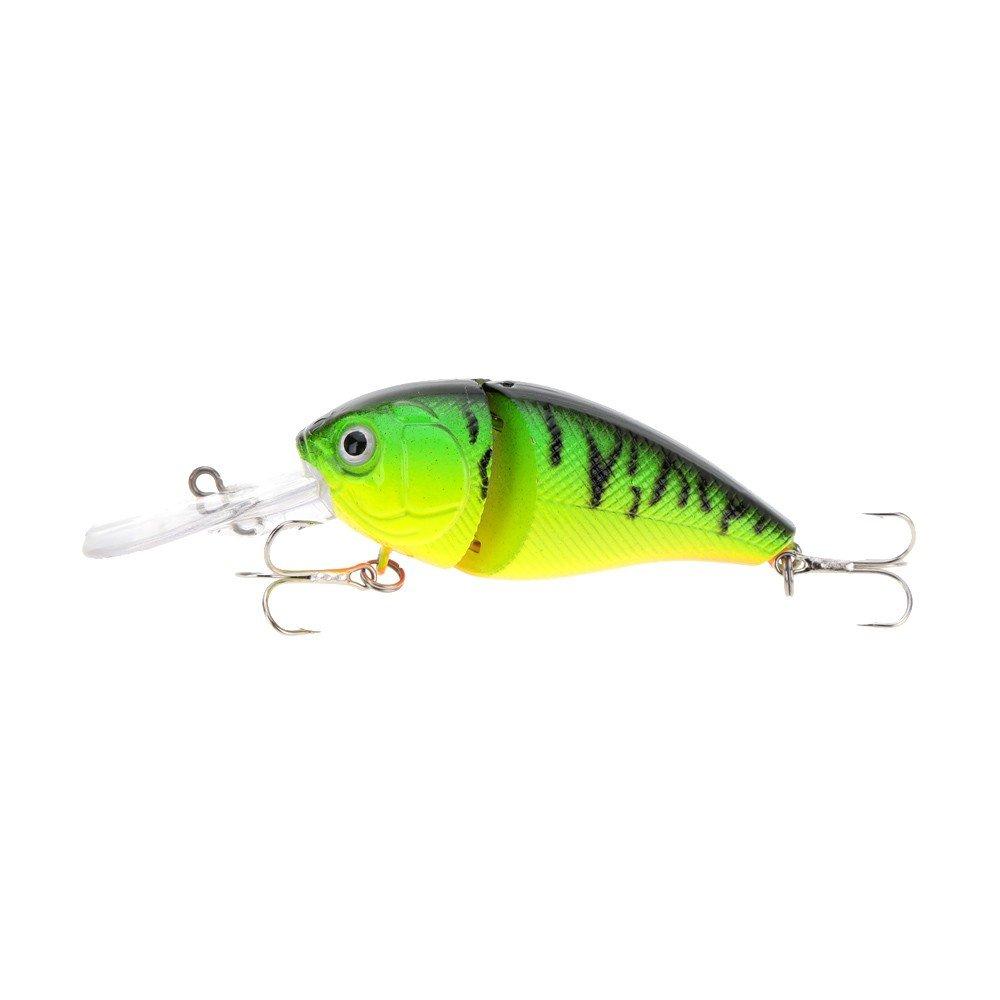 14 g 8.5 cm 2 articulado Pesca se/ñuelo Duro con Forma de Vida Chubby Fatty Crank Bait Tackle con Agudos Durable y pr/áctico