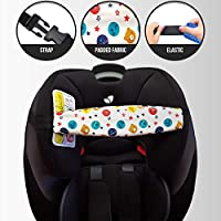 MV Essentials Baby Head Support Adjustable Strap Band for Car Seat Toddler...