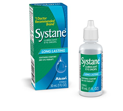 - Systane Long Lasting Lubricant Eye Drops, 30-mL