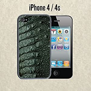 iPhone Case Green Alligator for iPhone 4 /4s Plastic Black (Ships from CA)
