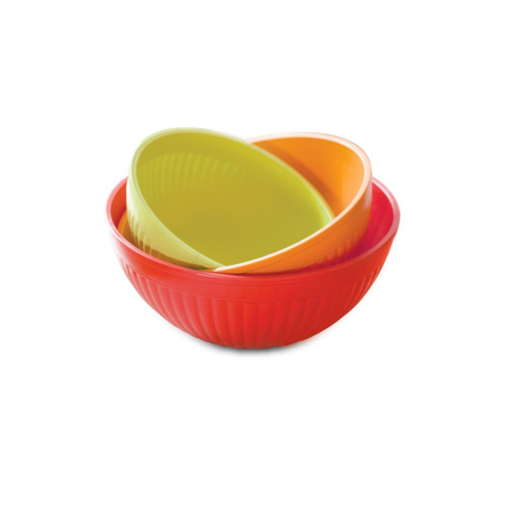 3-Piece Nordic Ware Prep and Serve Mixing Bowl Set