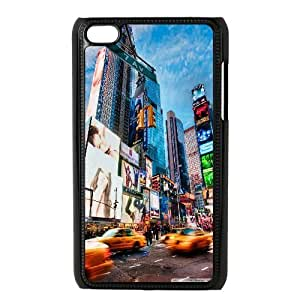 Jumphigh Times Square New York Ipod Touch 4 Cases, [Black]