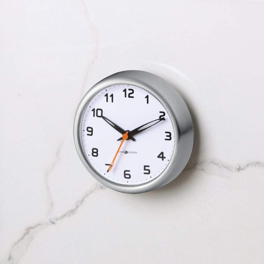 /étanche mDesign horloge de salle de bain avec ventouses pendule murale pour douche /à accrocher adh/érence parfaite