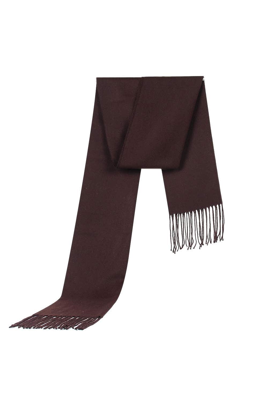 Men Winter Wool Scarf Warm Soft Cashmere Solid Tassels Scarves