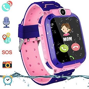 Amazon.com: Reloj inteligente para niños y niñas con GPS ...