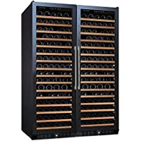 (DR) NFINITY PRO Double L RED 166-Bottles Wine Cellar, Glass Door Dual-Zone Cooler (S1011)