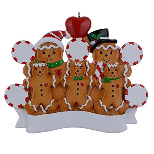 MAXORA Personalized Ornament Gingerbread Family of ()