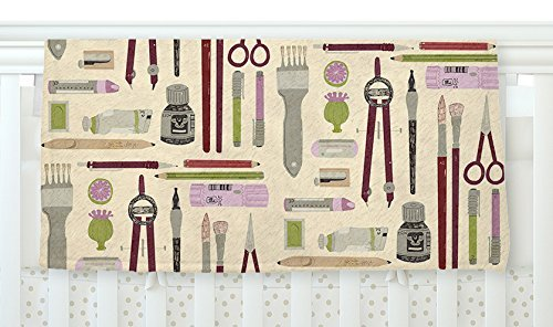 KESS InHouse Judith Loske Art Supplies Tan Pattern Fleece Baby Blanket 40 x 30 [並行輸入品]   B077ZW2H4G