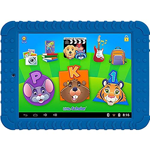 School Zone Little Scholar Learning Tablet. Over 200 Pre-Loaded Learning apps- Blue Coupons