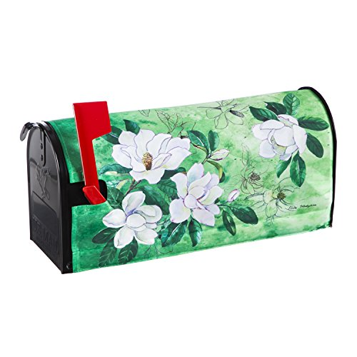 Evergreen Flag MagnoliasNylon Magnetic Mailbox Cover for Standard Sized ()