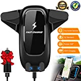 Wireless Car Charger Mount,Qi Wireless Charger car Phone Mount Air Vent Car Phone Holder Compatible for i Phone 8/8Plus/X/Xs/Xs Max/XR Samsung Galaxy S7/S7Edge/S6Edge Plus/Note5 All Qi Enabled Device