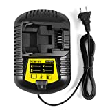 FLAGPOWER Replacement Li-Ion Battery Charger 12V MAX and 20V MAX for Dewalt DCB101 DCB115 DCB107 DCB105
