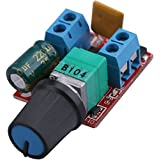 Yeeco DC Motor Speed Control Driver Board 3V-35V 5A PWM Controller Stepless DC 3V 6V 12V 24V 35V Variable Voltage Regulator Dimmer Governor Switching Build with LED Indicator and Switch Function