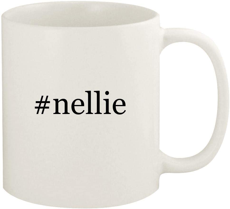 #nellie - 11oz Hashtag Ceramic White Coffee Mug Cup, White