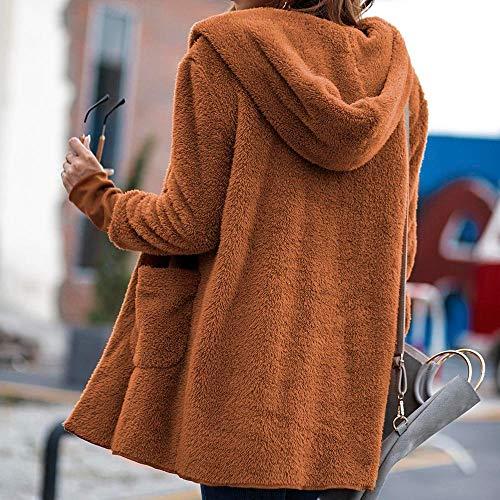 Pullover De Hiver Couleur Blouse Poche Unie Mode Tops Mi Haut Orange À Peluche Gamme Shobdw Blouson Manteau Longueur Capuche Hoodie Femme En Sweatshirt Veste IqfwAEF6Z
