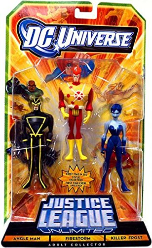 DC Universe Justice League Unlimited Action Figure 3Pack Angle Man, Firestorm Killer Frost