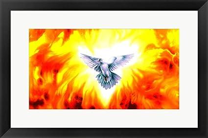 amazon com holy spirit fire by spencer williams framed art print