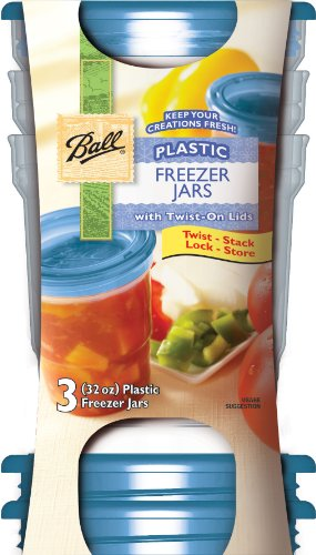 Jarden 84000 32 Oz Plastic Freezer Jars