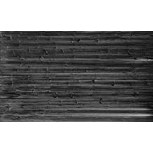 15-Feet wide by 9-Feet high. Prepasted robust wallpaper mural from a high res. photo of:Horizontal Barn Wall (Black and White). Looks real unless U touch. Our murals are easy to hang remove and reuse