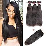Best Hair Bundles With Free Parts - LONG YAO Brazilian Straight Virgin Hair 3 Bundles Review