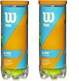 Wilson Prime All Court Tennis Ball .2 Pack 6 Balls Limited Edition