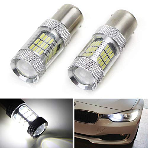 - iJDMTOY Xenon White 54-SMD 7507 PY21W Canbus LED Replacement Bulbs For BMW 1 2 3 4 Series X1 X3 X4 X5 Front Turn Signal Lights or Rear Backup Lights