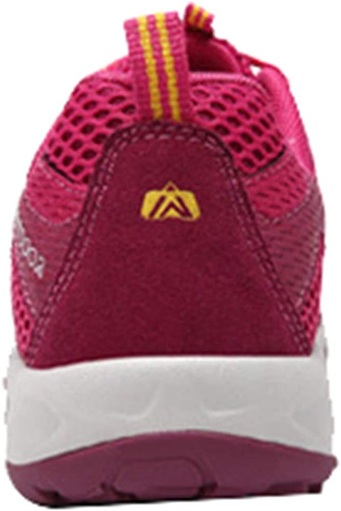 Insun Femme Chaussures de Randonnée Chaussures de Marche Été Chaussures de Sport Chaussures Montagne Baskets Printemps Rose Rouge