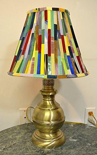 Glass Mosaic Lamp Shade With Base by NYMosaicArt