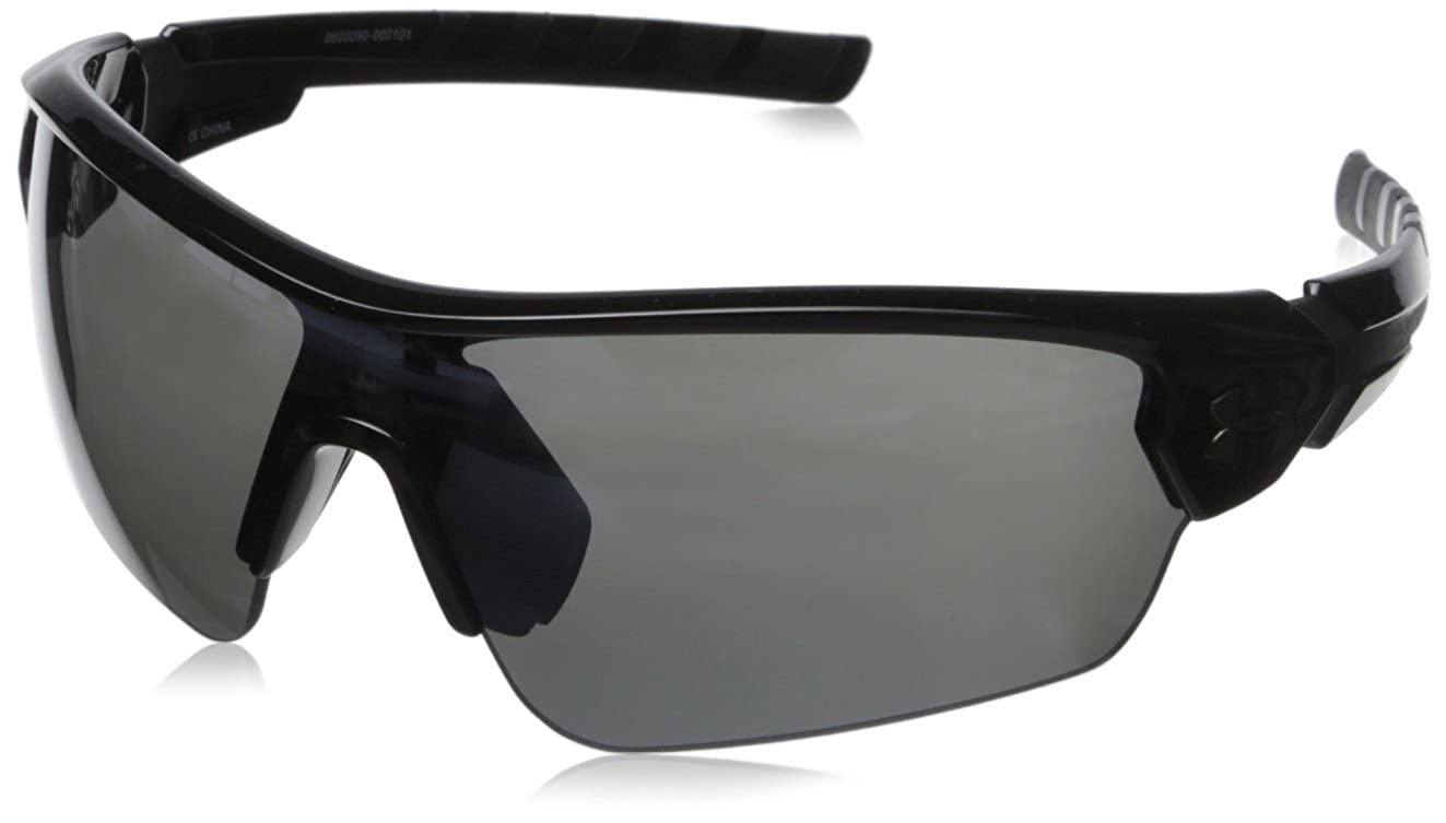 5f039d223f81 Amazon.com: Under Armour Rival 8600090-000101 Shield Sunglasses, Shiny Black /Black, 42 mm: Sports & Outdoors