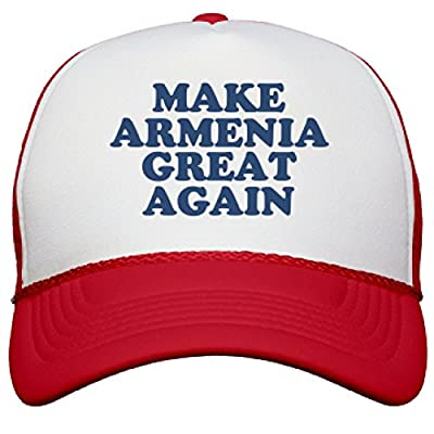Make Armenia Great Again Hat: Snapback Mesh Trucker Hat
