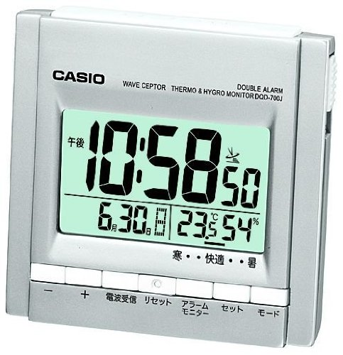 Casio Dqd 700J 8Jf View Temperature  Humidity Wave Ceptor Table Clock Radio Clock  Japan Import