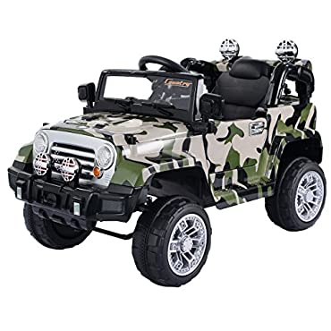 Costzon 12V MP3 Kids Ride On Truck Jeep Car RC Remote Control w/ LED Lights Music